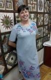 Автор: Татьяна Землянская, расписное платье. Петриковская роспись.