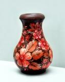 Автор: Ірина Зайцева, ваза. Петриківський розпис.