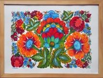 """Автор: Світлана Кошель """"Музика квітів"""". Петриківський розпис."""