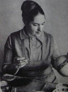 Вера Клименко-Жукова за работой