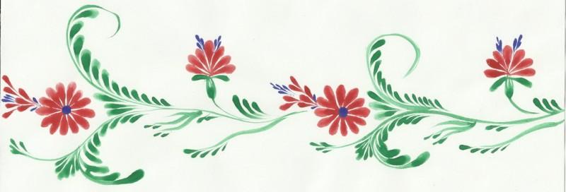 Бегунок кисточкой из кошачей шерсти. Петриковская роспись.
