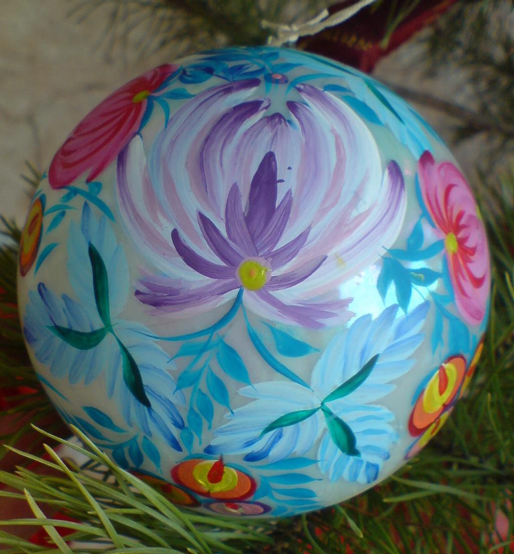 Новогодние шары роспись своими руками