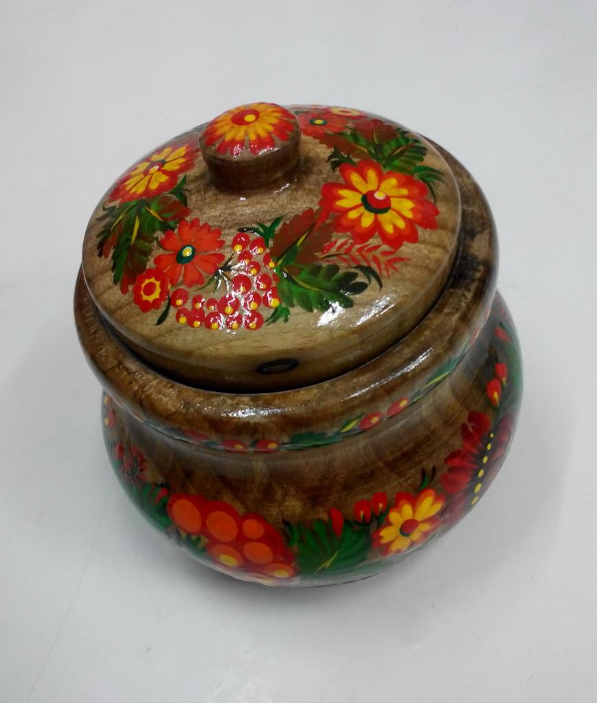 Алёна Борисова. Сахарница. Петриковская роспись.