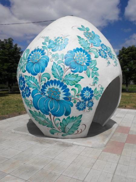 Беседка в центральном парке Петриковки. Поездка в Петриковку.