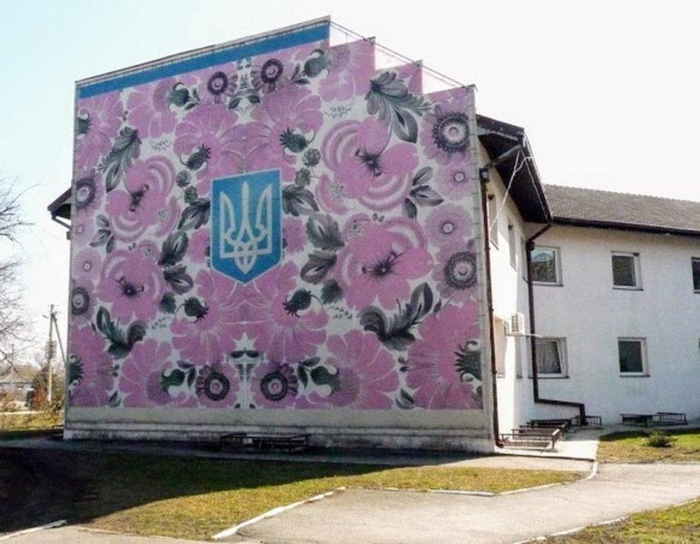 Петриковская роспись в архитектуре.
