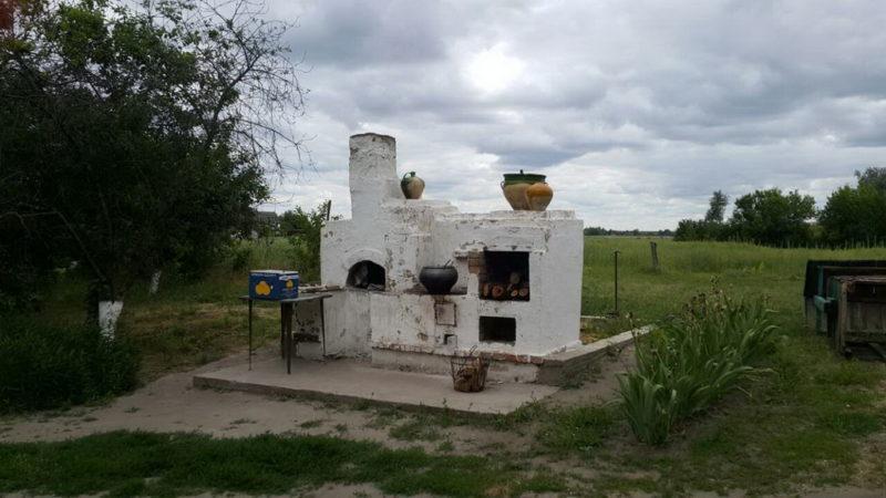 """Летняя печь на этно-хуторе """"Козацька Січ""""."""
