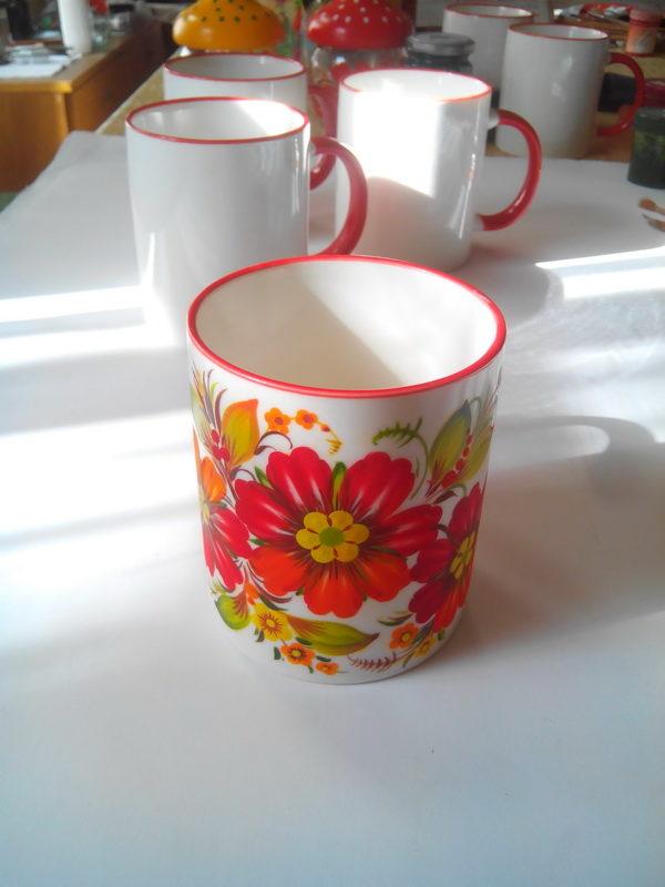 Чашка. Петриковская роспись.