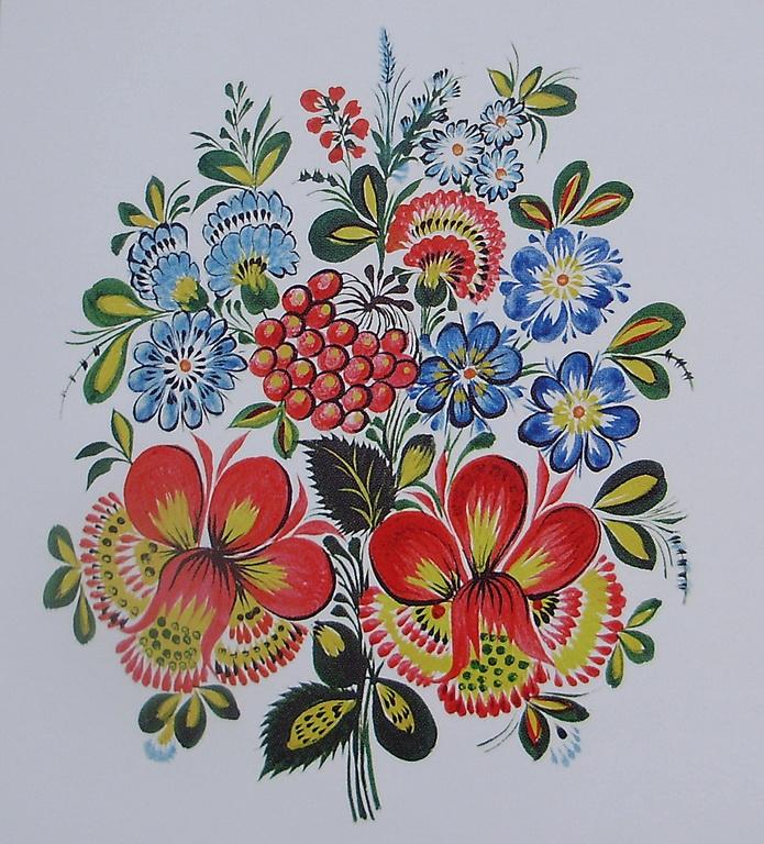 Петриковская роспись картинки для начинающих
